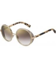 Jimmy Choo Дамы Andie-ые j7a пН золото обнаженные Havana золото зеркало солнцезащитные очки