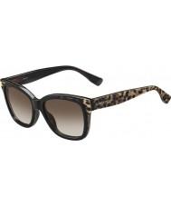 Jimmy Choo Дамы бэби-s ПУЭ J6 животных черные солнцезащитные очки